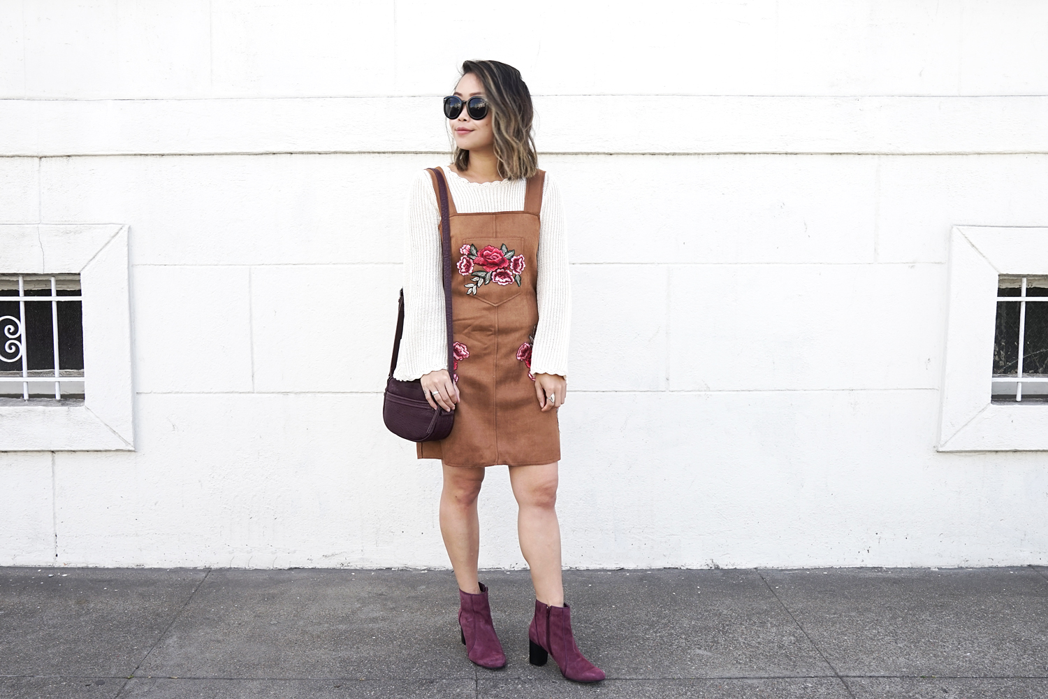 09hushpuppies-suede-boots-pinafore-floral-embroidery-fall-fashion-style
