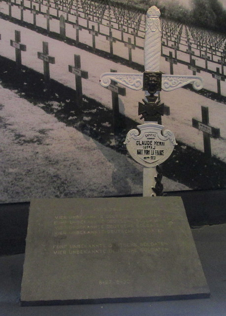 Great War German Headstone + French Cross