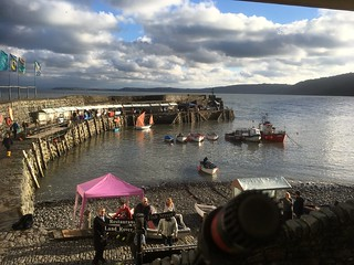 view from the stage - Clovelly Herring Festival