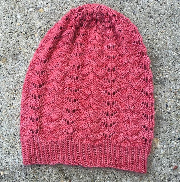 Silk/alpaca knit slouchy hat.