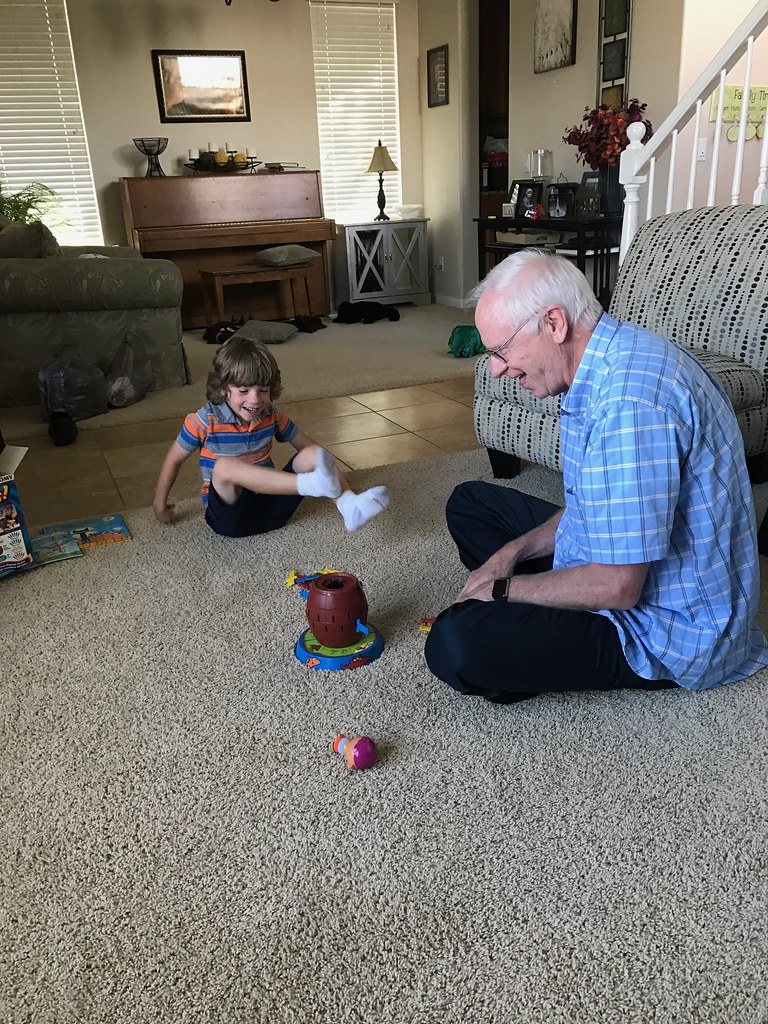 Playing games with Grandpa