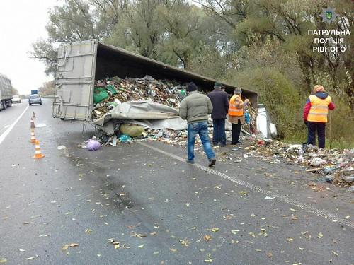 Львівське сміття викинули біля Дубна