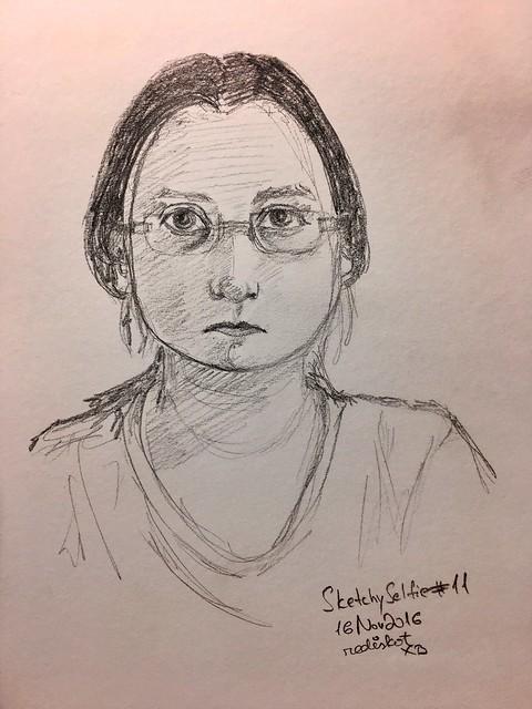 Sketchy selfie #11
