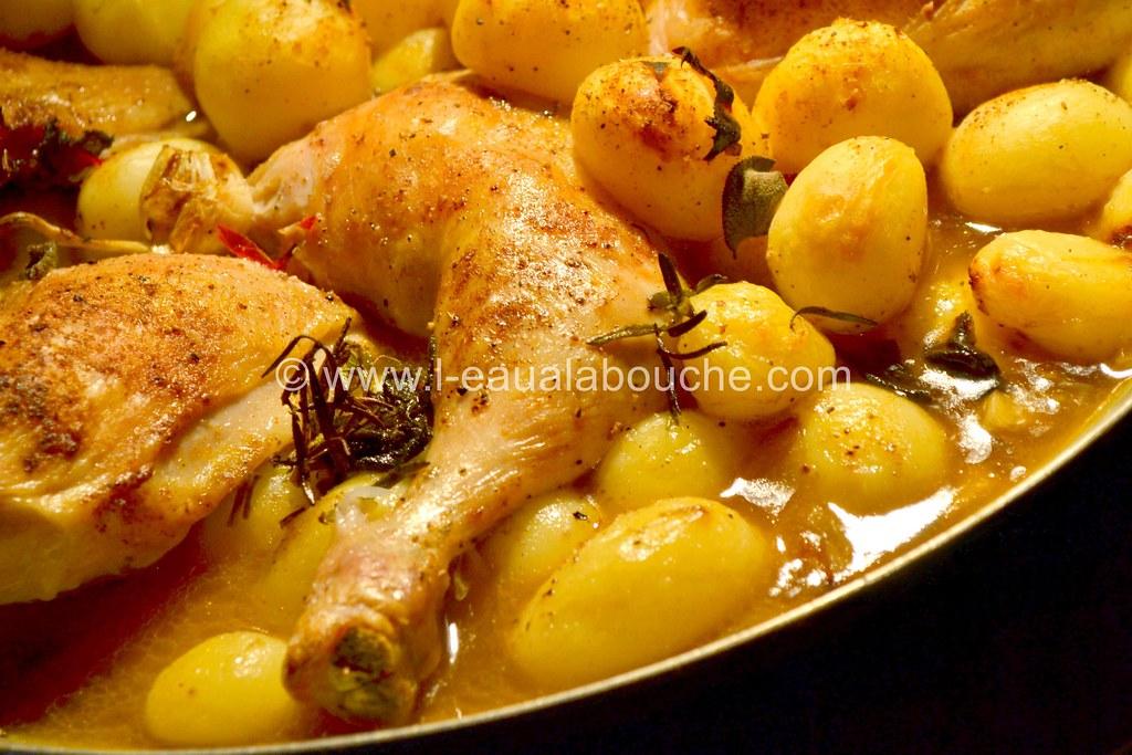 cuisses de poulet pommes de terre r ties flickr. Black Bedroom Furniture Sets. Home Design Ideas