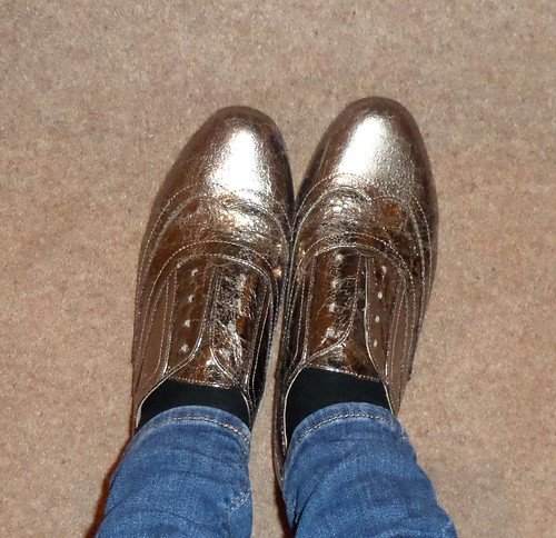 M&S metallic brogues