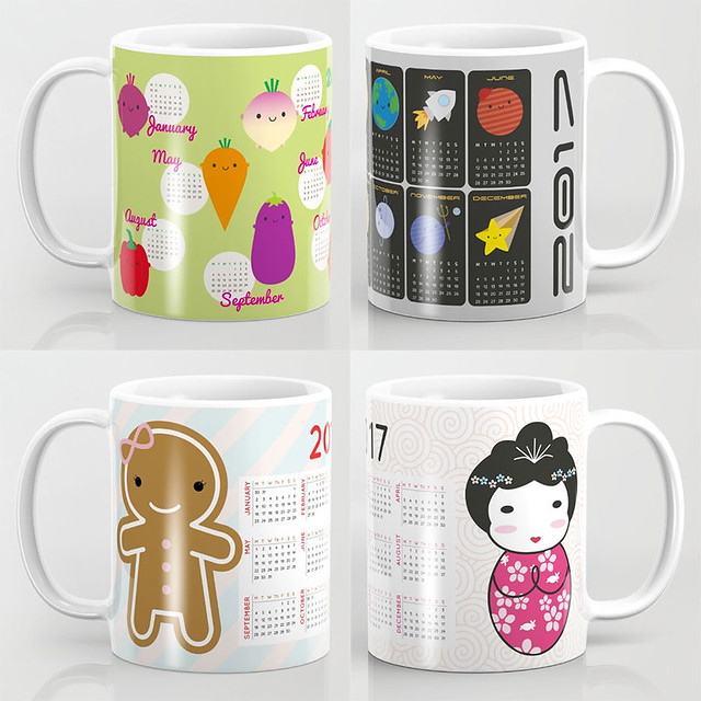 2017 calendar mugs at Society