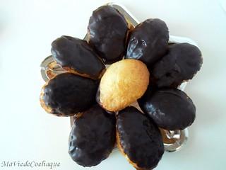 madeleine enrobée de chocolat sans gluten