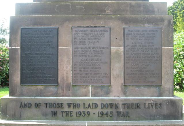 Milnathort War Memorial 3