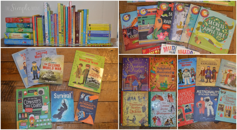 Usborne books collage