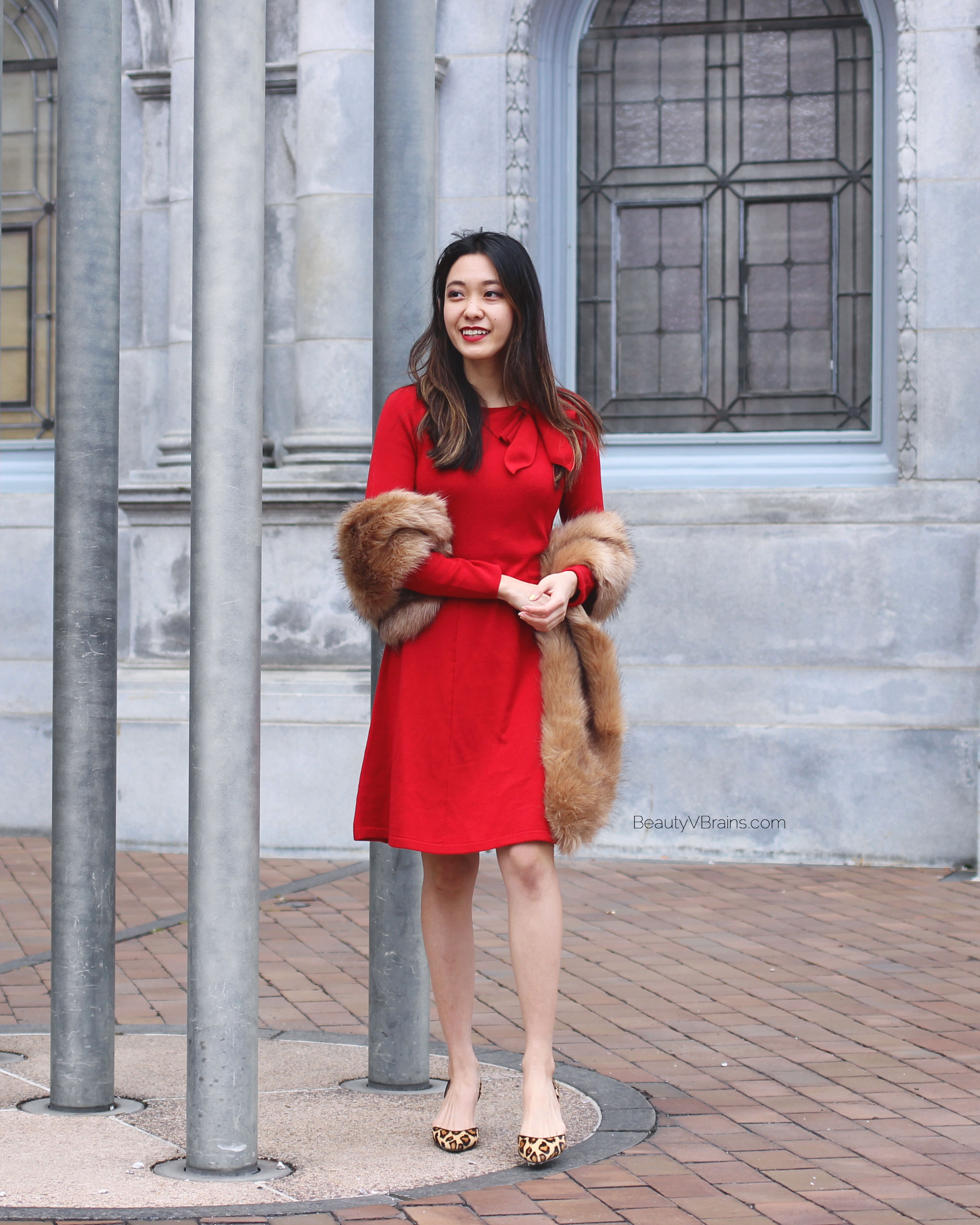 The perfect red holiday sweater dress