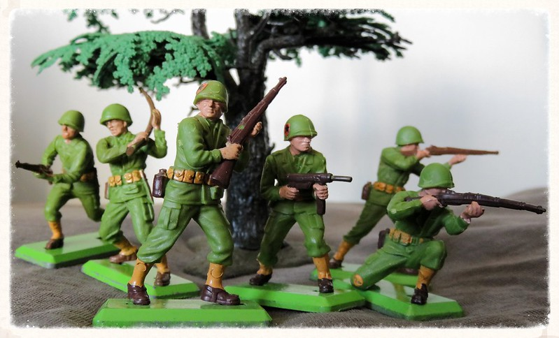 Toy soldiers, cowboys, indians, space men etc 22845511459_e72beeee8b_c