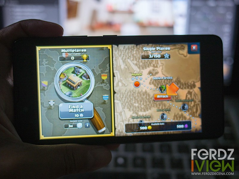Playing Clash of Clans on the Play Plus