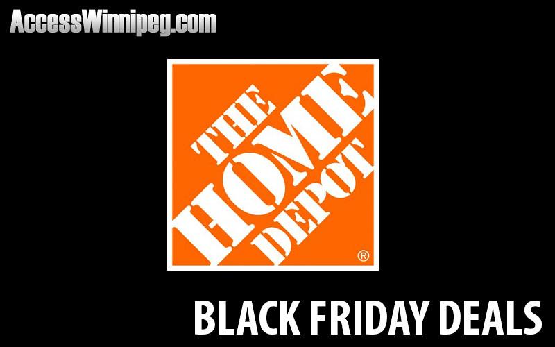 Home depot canada black friday deals 2016 access winnipeg for Deals by depot