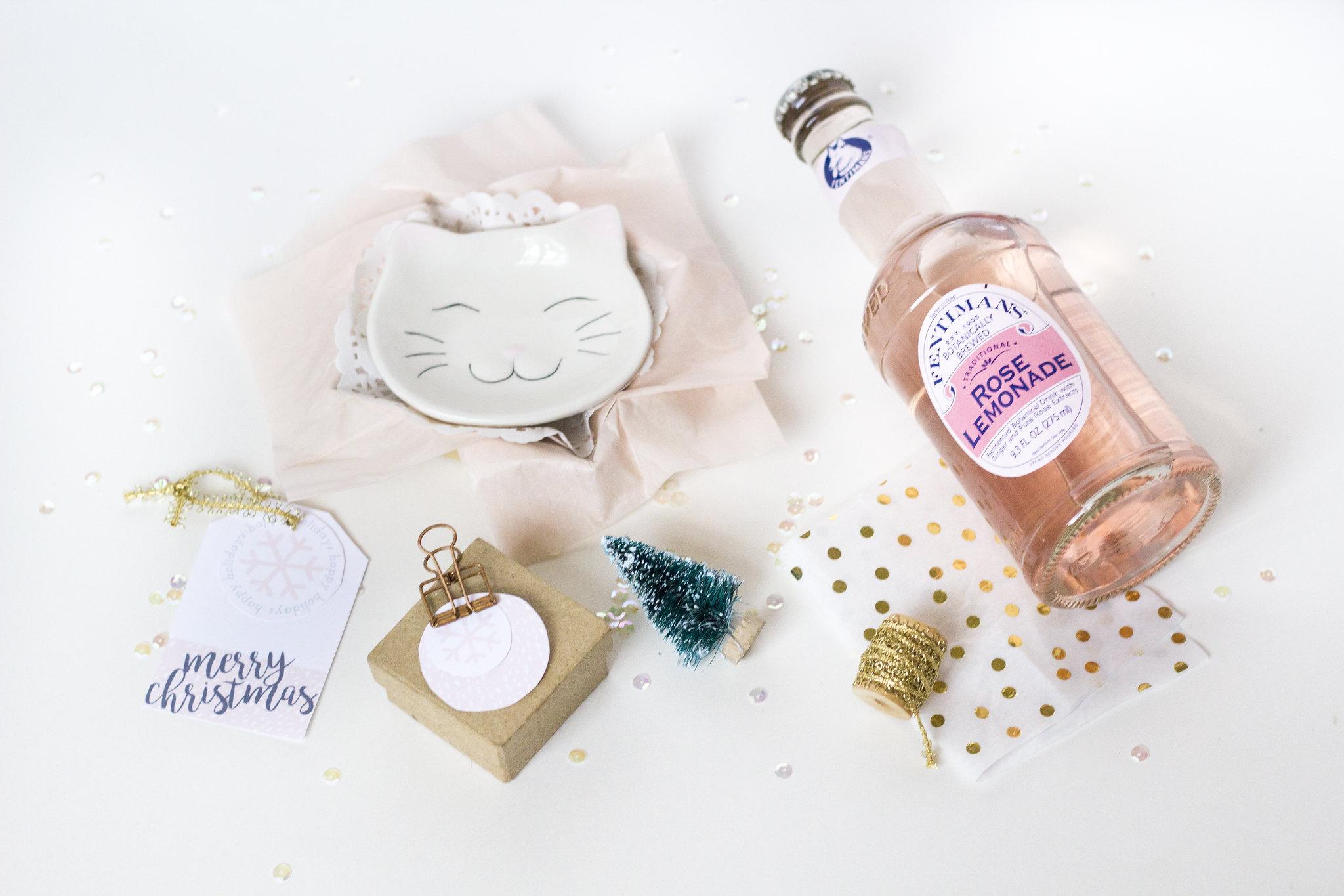 printable blush gift tags