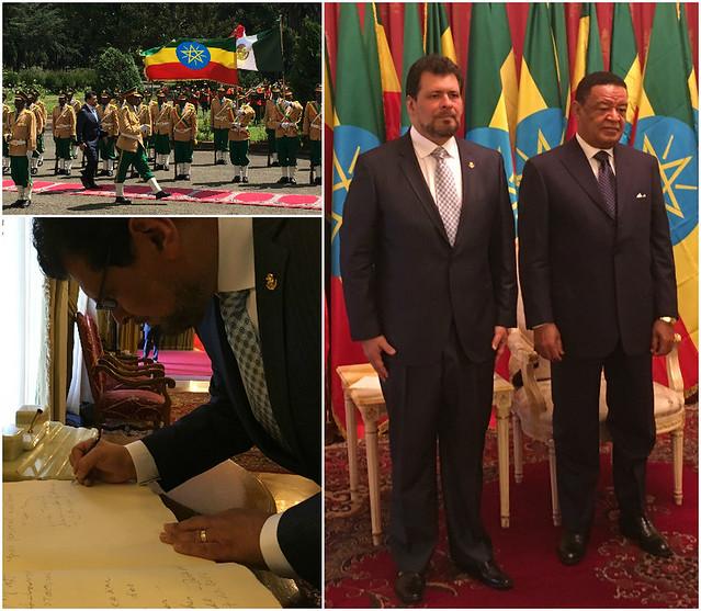 El Embajador de México en Etiopía, Víctor Manuel Treviño Escudero, presenta cartas credenciales