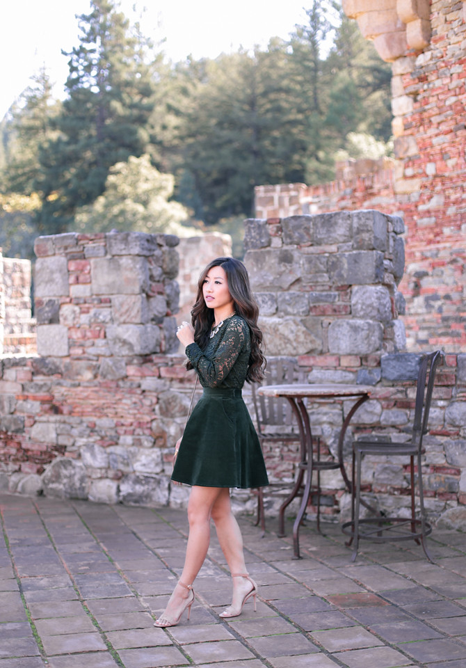emerald green holiday party outfit modcloth extra petite