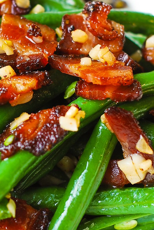 how to cook green beans with bacon in crock pot
