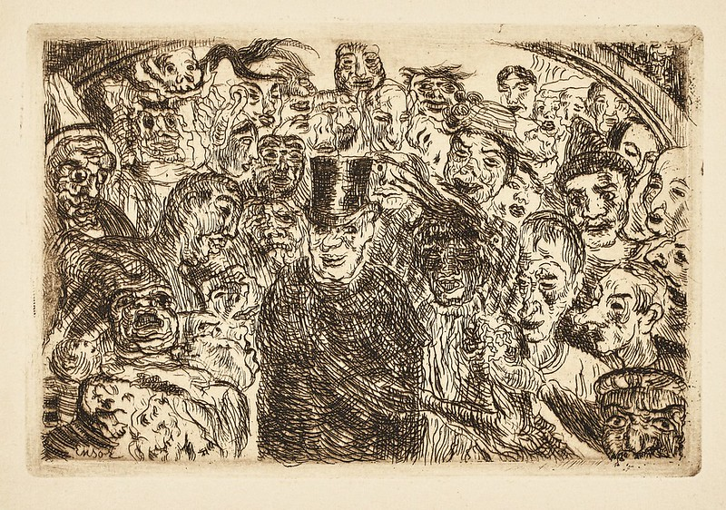 James Ensor - Perplexed Masks, 1904