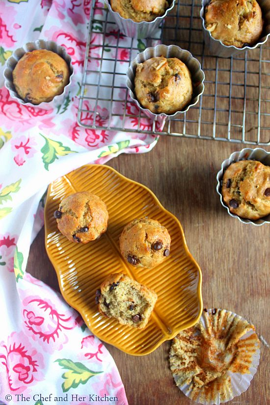 eggless wholewheat banana muffins