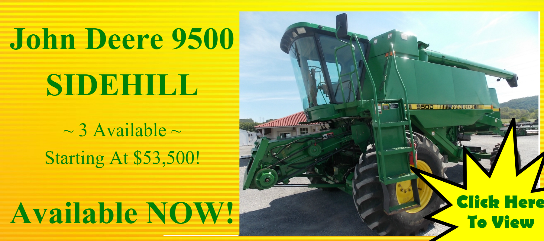 John Deere 9500 Sidehill Combine for sale