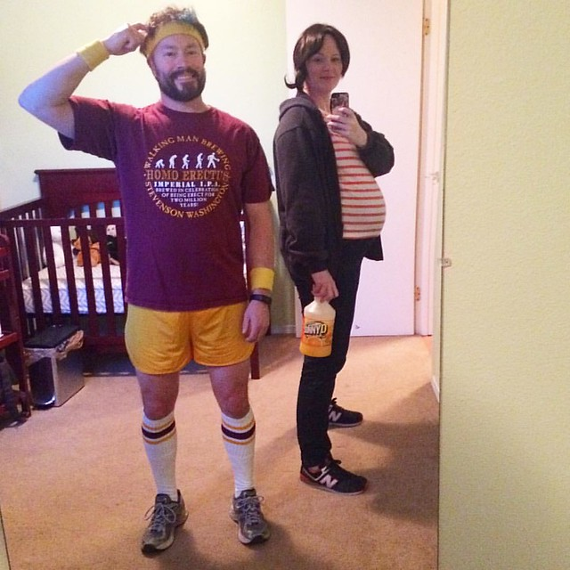 """That ain't no Etch-a-Sketch. This is one doodle that can't be un-did, Homeskillet."" Happy Halloween from Juno and Paulie Bleeker!"