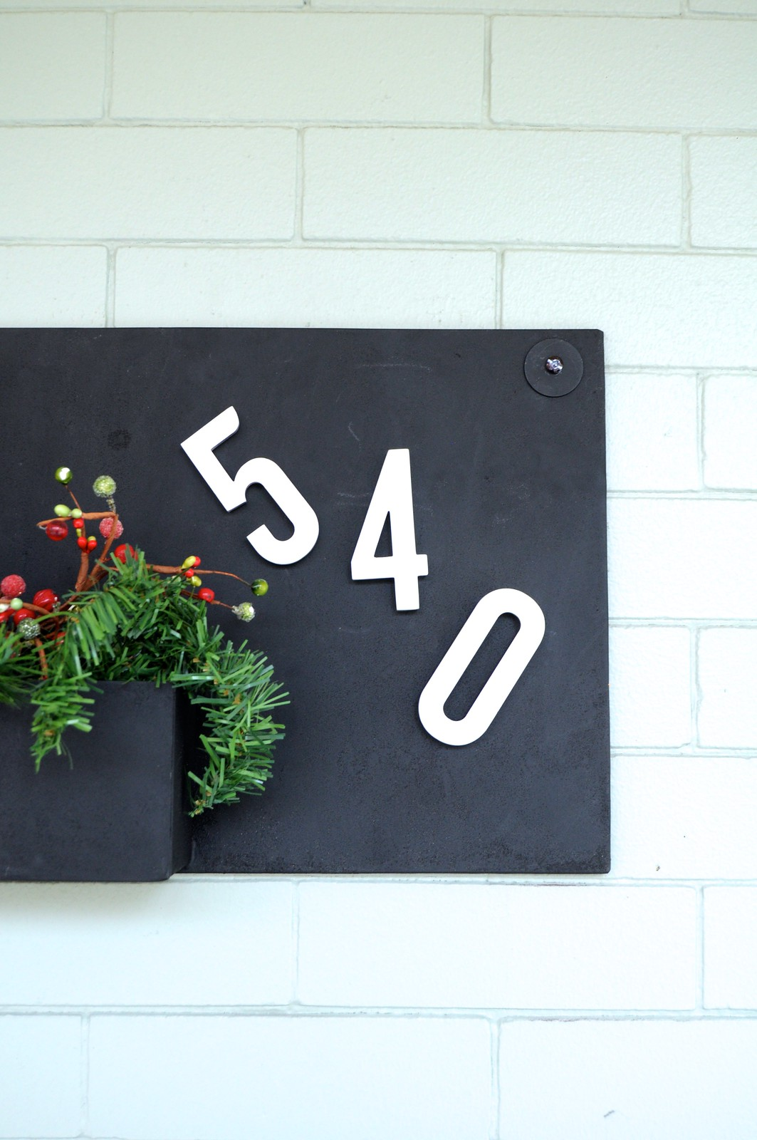 Semi-DIY House Numbers Sign
