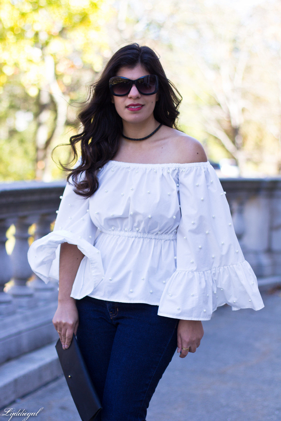 bell sleeve off the shoulder top, flared cropped denim-2.jpg