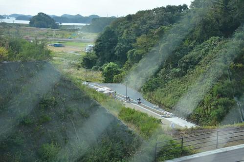 野蒜駅:海側への連絡道路