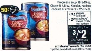 Free Progresso Soup at CVS