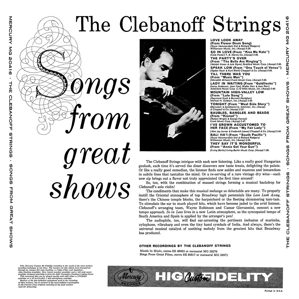 Herman Clebanoff - Songs From Great Shows