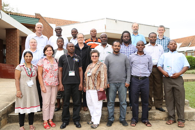 Participants who took part in the Africa RISING training on farming systems research design , 3-4 October 2016 (Photo credit: IITA/Gloriana Ndibalema)