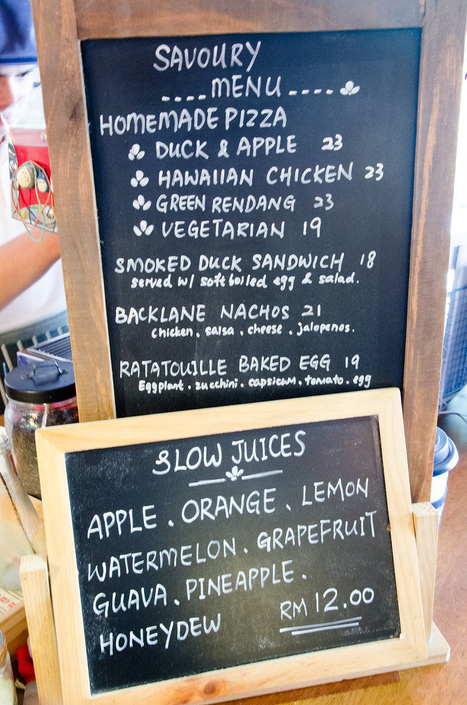 Food and Juices at Backlane Coffee Melaka