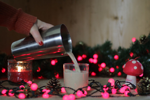 Vegan Eggnog cocktail