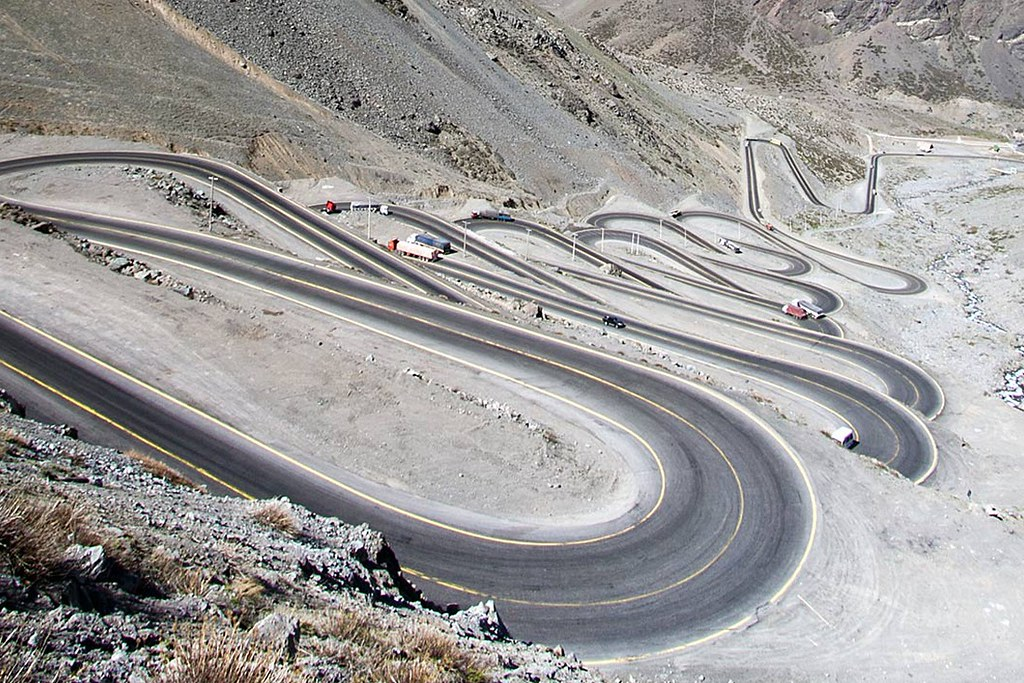 Los Caracoles Pass motorcycle