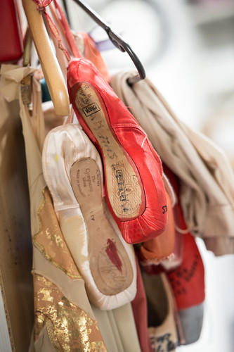 Dyed Pointe Shoes In The Royal Ballet Dressing Rooms The