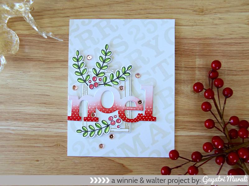 Red NOEL card flat