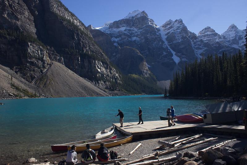 Moraine Lake canoe rental