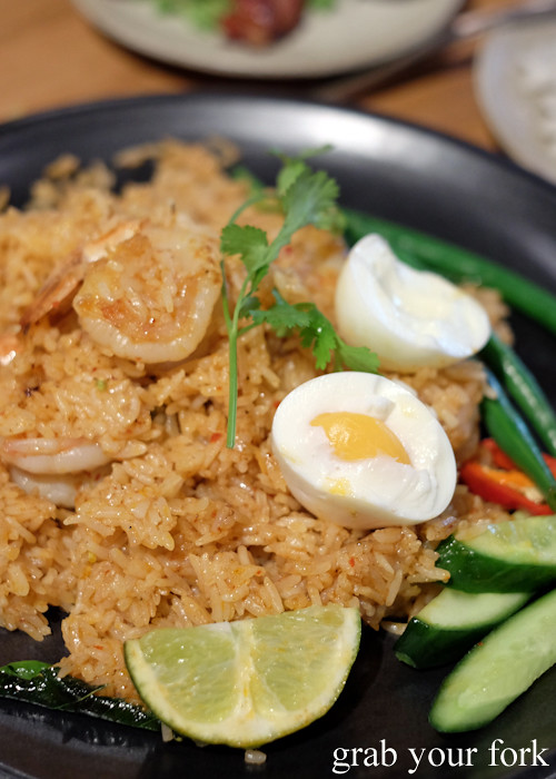 Tom yum fried rice at Chat Thai at Gateway Sydney in Circular Quay