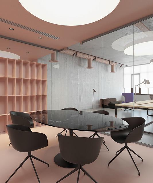 Pink office design in Ukraine by Emil Dervish Sundeno_04
