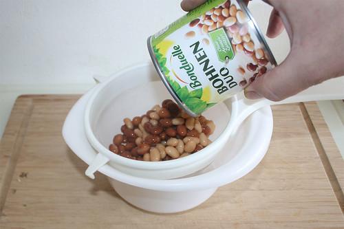 34 - Bohnen abtropfen lassen / Drain beans
