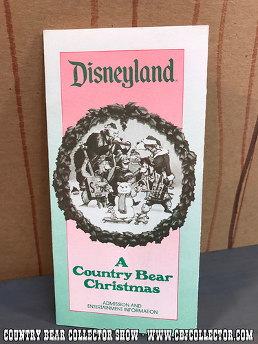 1984 Disneyland Entertainment Guide A Country Bear Christmas - Country Bear Jamboree Collector Show #76