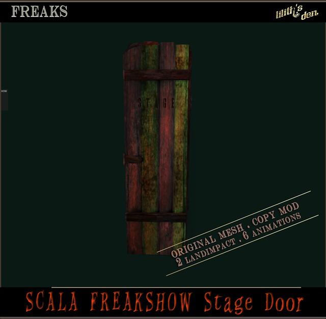 Lilith's Den - Scala Freakshow Stage Door