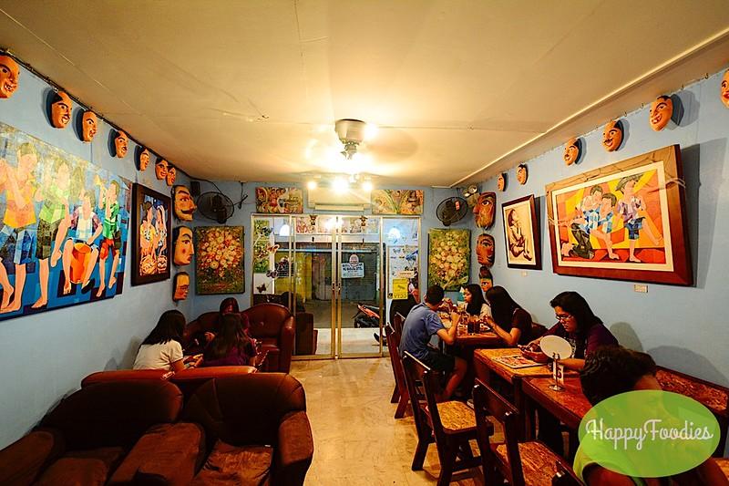 Ground floor of Lava Mocha Cafe dining area