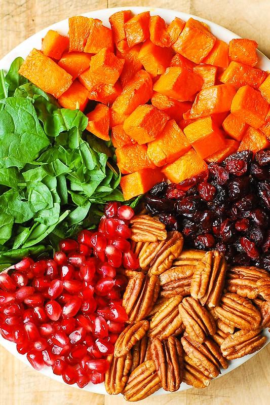 fall salad, autumn salad, holiday salad, Thanksgiving salad, Thanksgiving recipes