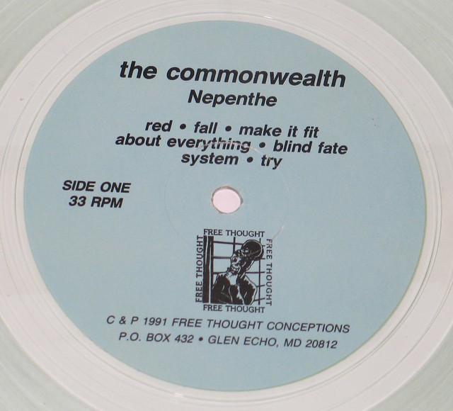 "COMMONWEALTH NEPENTHE TRANSPARENT 12"" VINYL LP"