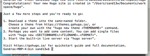 new hugo site