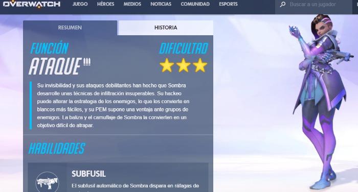 Sombra, nueva heroína de Overwatch | Novedades de la BlizzCon 2016