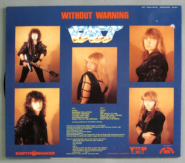 "FACT WITHOUT WARNING 12"" LP VINYL"