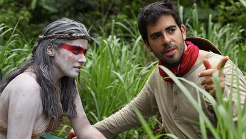 The Green Inferno - backstage 3 - Lorenza Izzo & Eli Roth