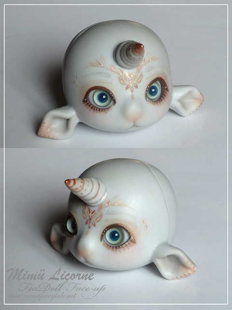 Mimu licorne grey skin avec face-up